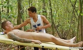 Gay Massage Table - Marion Anel and Jerome Fisher