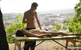 Gay Massage Table - Elijah Young and Tom Fiaty