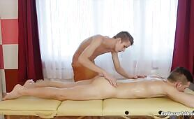 Gay Massage Table - Tom Fiaty and Jose Manuel