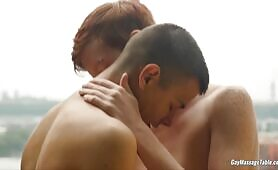 Gay Massage Table - Elijah Young and Will Sims